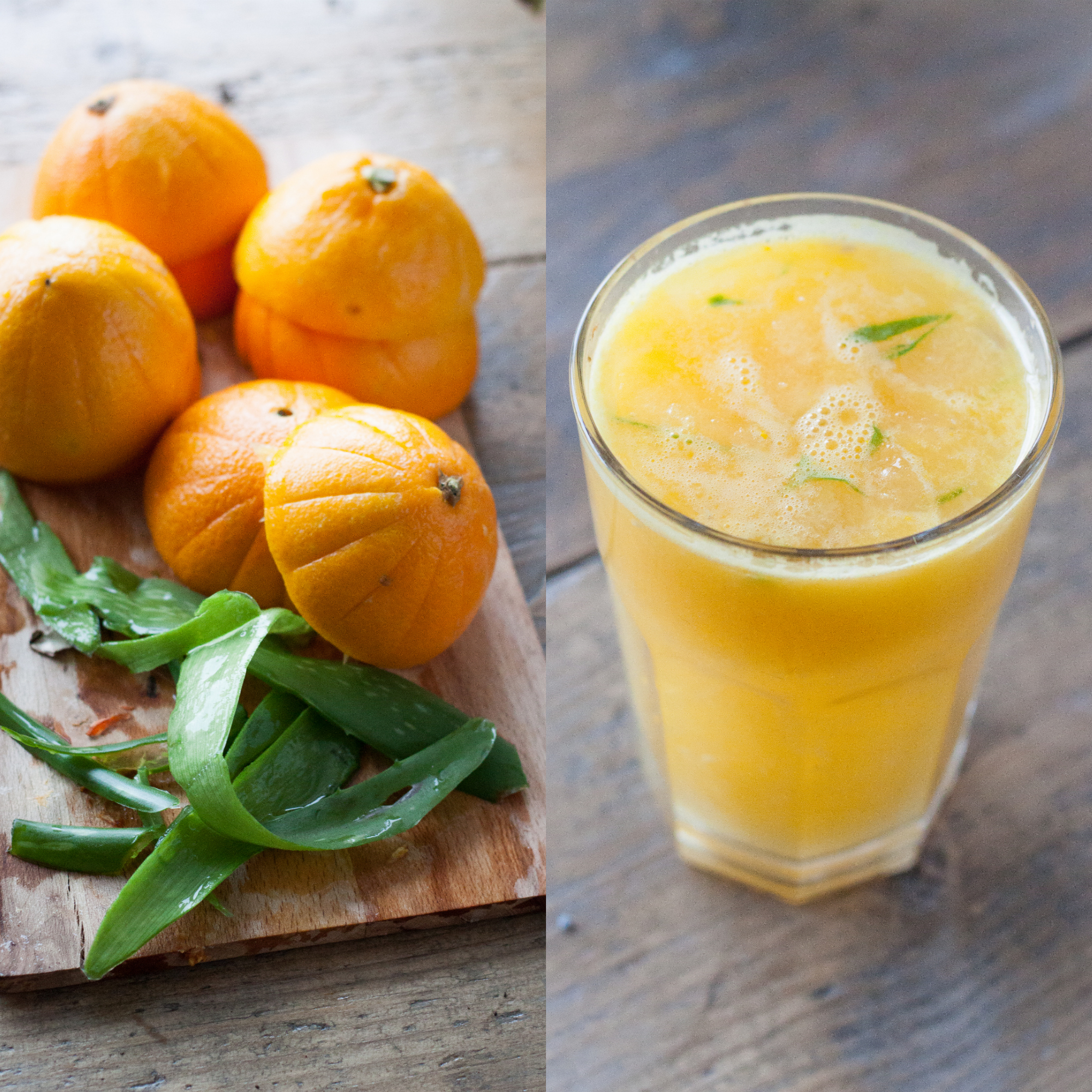 Juicy // Detoxing Aloe Vera Orange Juice – ROSALIERUARDY COM