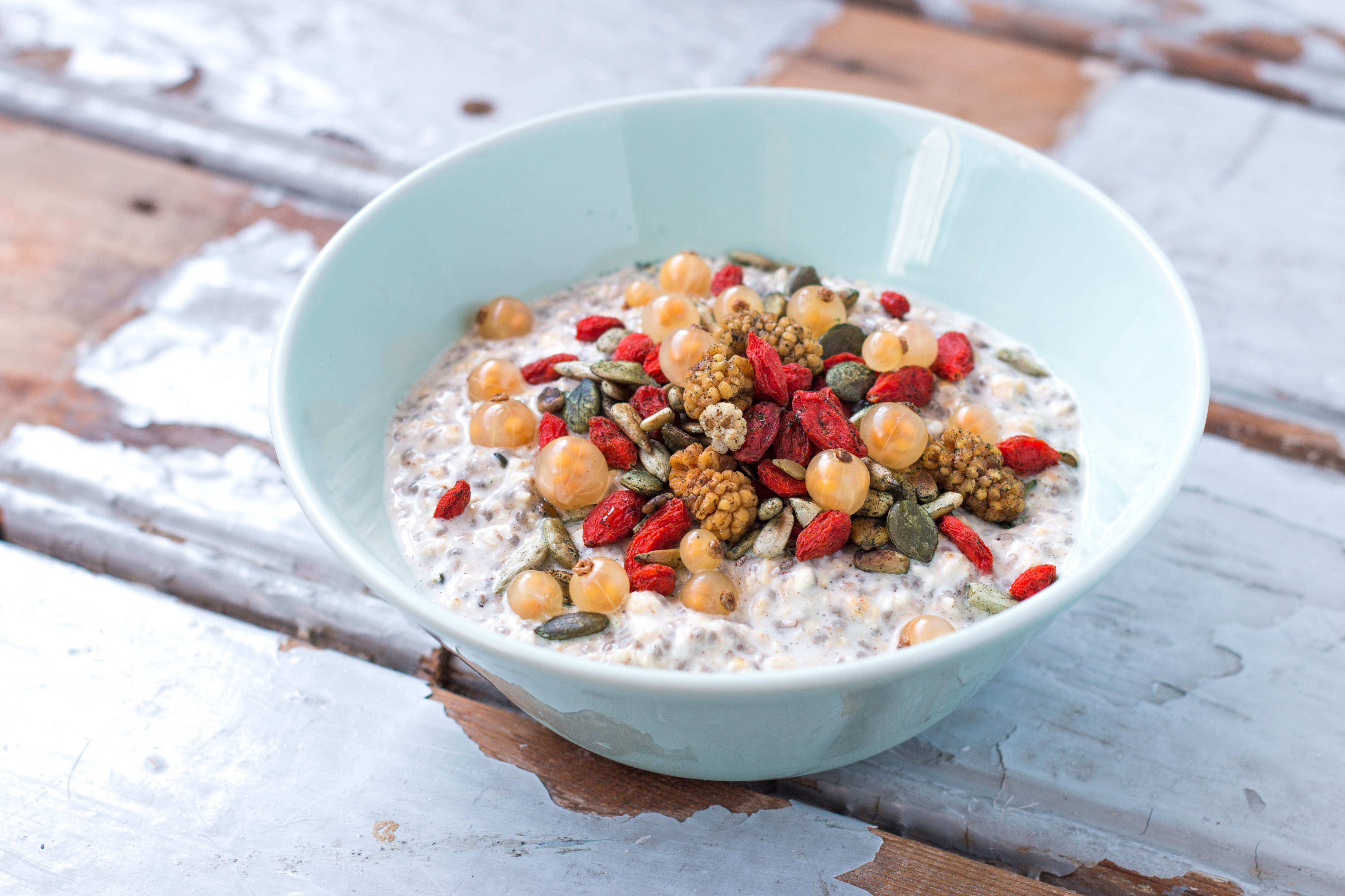 Vegan Chia Oatmeal Pudding