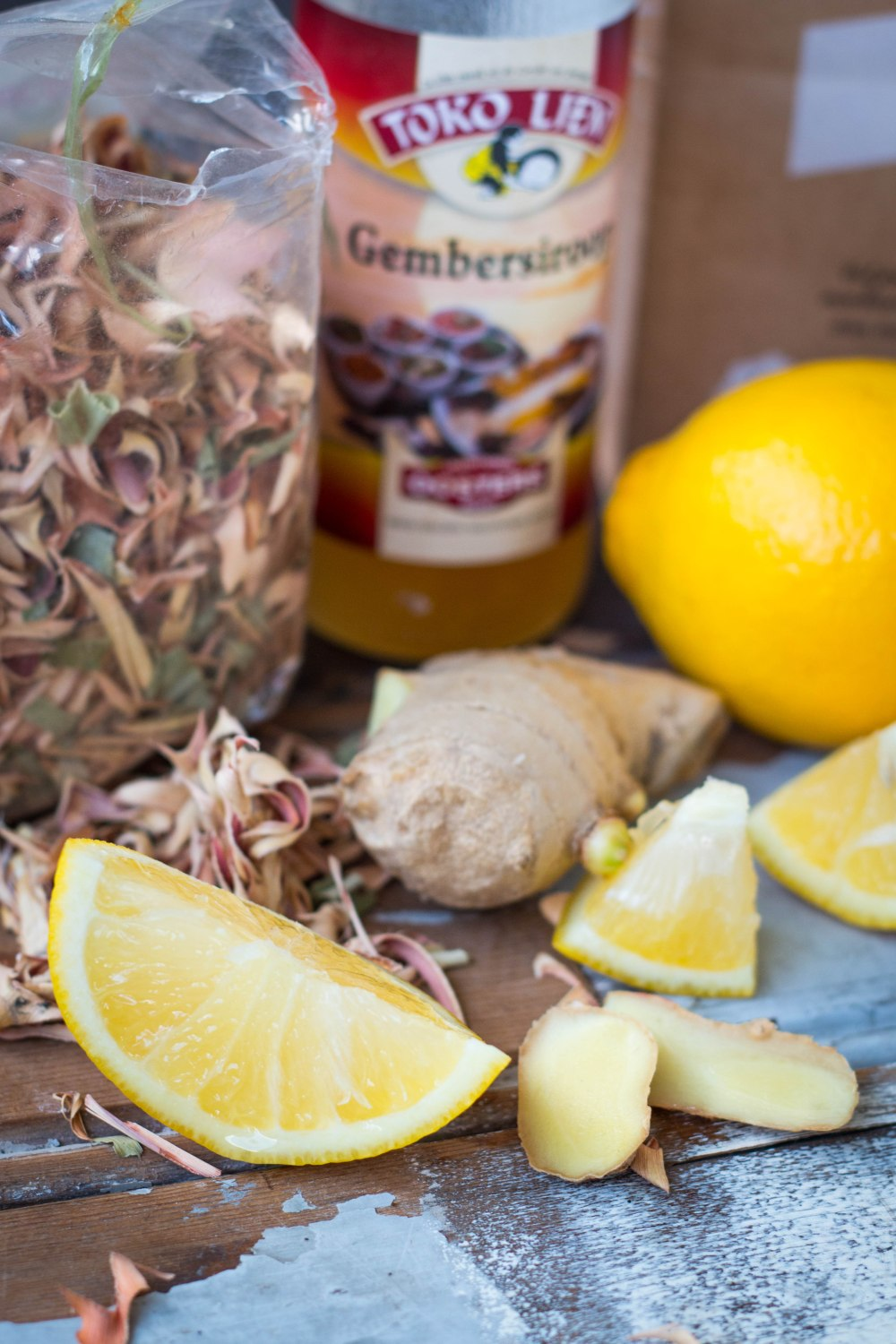 Ginger Fizz Ingredients // Mocktail Recipe