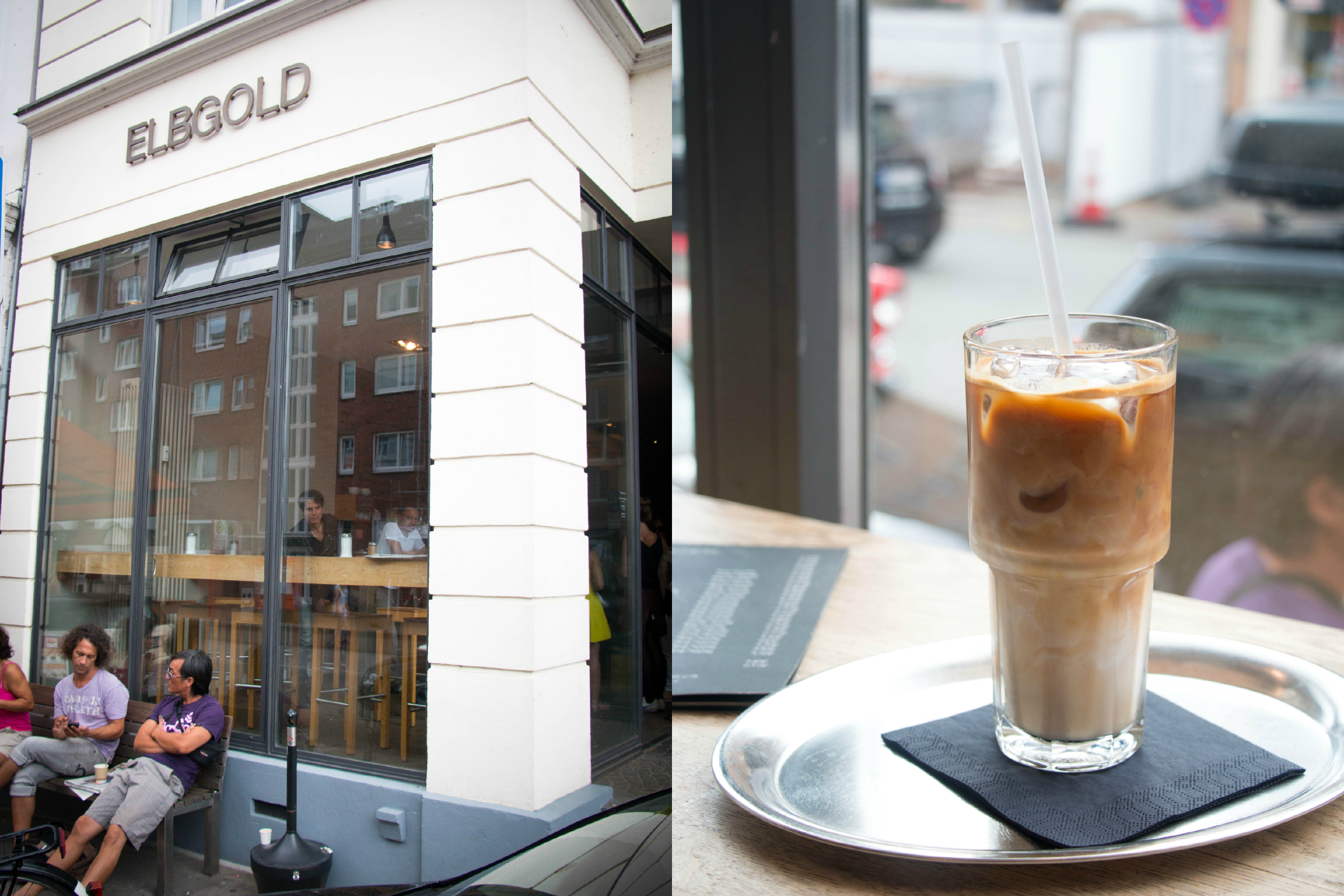 Iced Coffee at Elbgold Hamburg