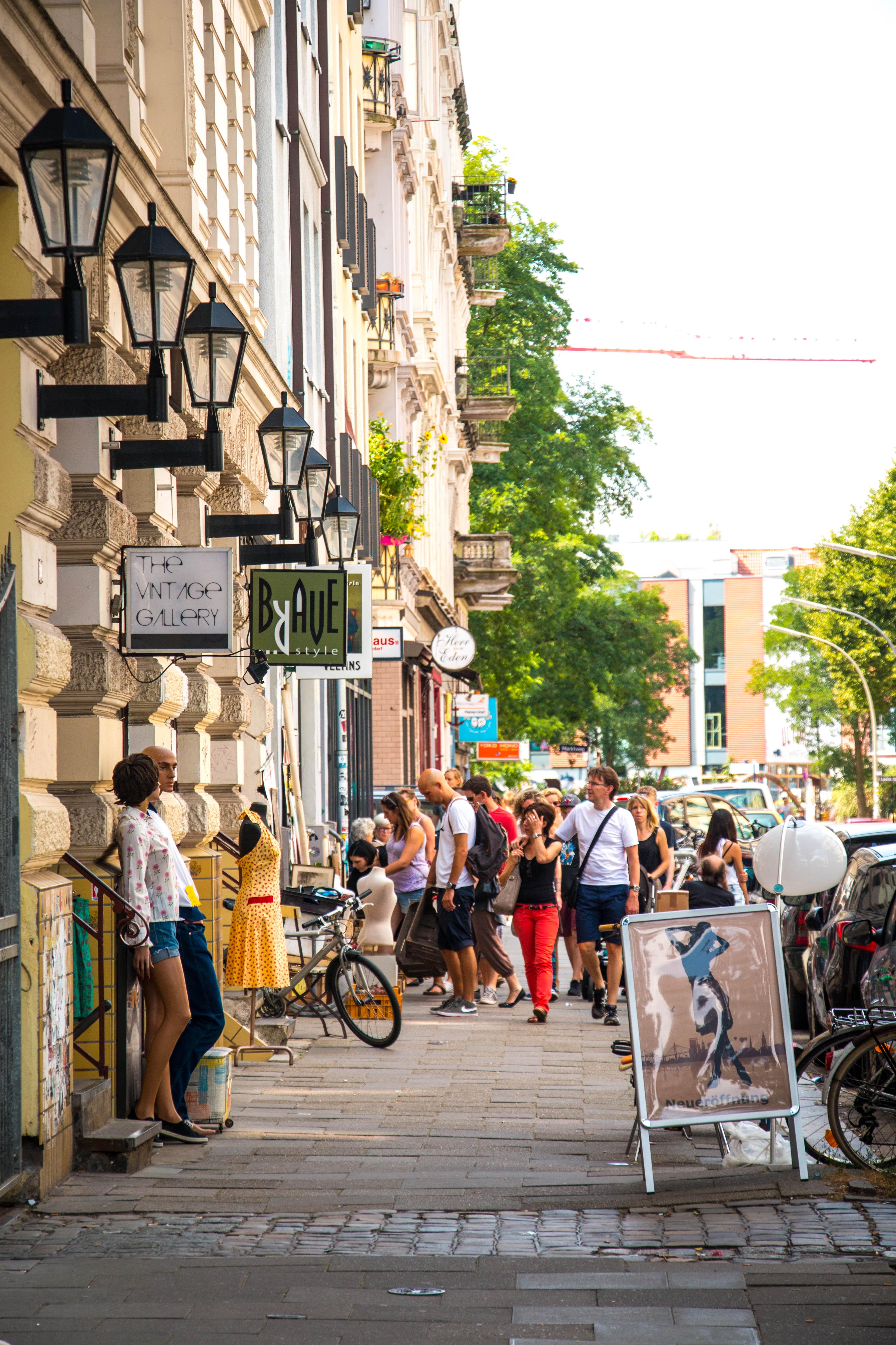 Markt Straße Hamburg